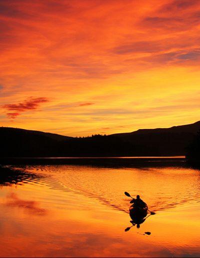 Canoeing at Night on Loch Lomond